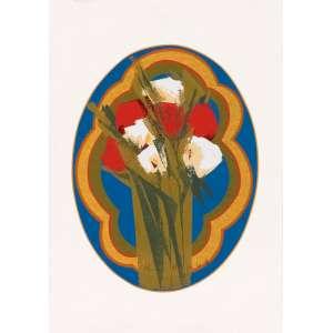 Olimpia Couto - Flores – 50 x 35 cm – Gravura – Ass. PI – Sem Moldura