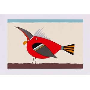 Lucas Pennacchi - Pássaro – 33 x 48 cm – Gravura – Ass. CID e Dat. 1997 – Sem Moldura