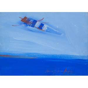 MARIA HELENA ANDRÉS - Composição em Azul – 24 x 33 cm – AST – Ass. CID