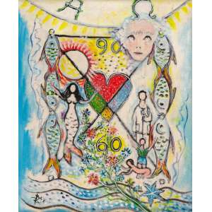 BAX - Fundo de Mar – 50 x 40 cm – OST – Ass. CIE e Dat. 1987
