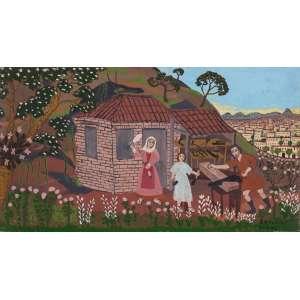 JOSÉ ASSUNÇÃO - O Marceneiro – 32 x 59 cm – OSE - Ass. CID e Dat. 1974