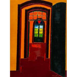 IVAN MARQUETTI - Interior Amarelo – 95 x 70 cm – OST - Ass. CID e Dat. 2001