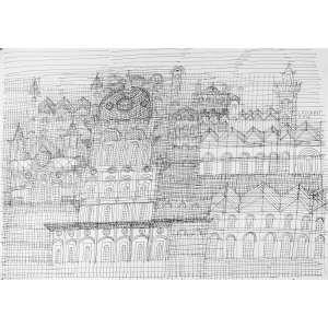 FERNANDO LUCCHESI - Cidades Invisíveis – 50 x 70 cm – Nanquim - Ass. CSD e Dat. 2017