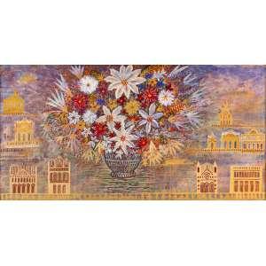 FERNANDO LUCCHESI - Flores para Guignard – 105 x 205 cm – OST - Ass. LE e Dat. 2007