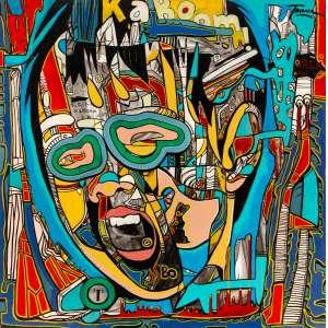 TAVARES - National Kid Atômico – 100 x 100 cm – OST – Ass. CSD