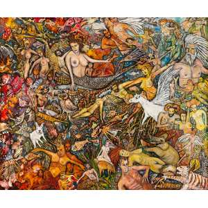 LÚCIO MAGALHÃES - Sem Título - 89 x 106 cm – TM – Ass. CID e Dat. 2016