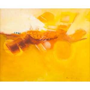 MARIA HELENA ANDRÉS - Composição em Amarelo - 60 x 73 cm – AST - Ass. CID – Década de 70/80