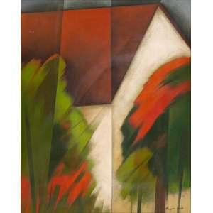 OLIMPIA COUTO - Paisagem – 100 x 80 cm – VESTSE - Ass. CID e Dat. 1986