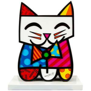 ROMERO BRITTO - Cat – 73 x 62 x 30 cm – Tinta Automotiva sobre Metal Ass. Base