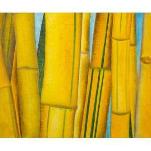 ANTÔNIO HENRIQUE AMARAL - Bambu e Céu – 46 x 55 cm – OST – Ass. CID e Dat. 1977
