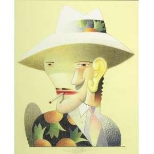 CAULOS - O Chefe – 52 x 42 cm - Pastel Oleoso – Ass. PI