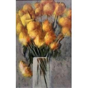 CARLOS SCLIAR - Flores Amarelas – 56 x 37 cm - VCEST – Ass. CID e Dat. 1979