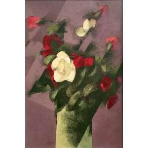 CARLOS SCLIAR - Rosas Vermelhas e Brancas – 56 x 37 cm - VCEST – Ass. CIE e Dat. 1980
