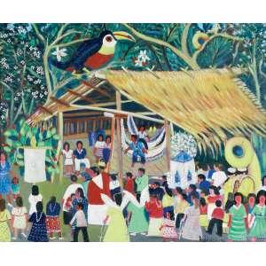 RODELNÉGIO - Missa na Amazônia – 50 x 60 cm – OST - Ass. CID e Dat. 1991
