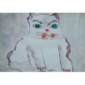 ALDEMIR MARTINS - Gato – 30 x 41 cm – ASC – Ass. PI Reproduzida no catálogo da Exposição Individual realizado pelo artista em 2005 na pág. 27.