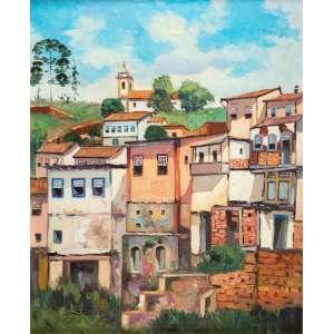 EDÉSIO ESTEVES - Casario da Ponte dos Contos - Ouro Preto/MG – 73 x 60 cm - OST – Ass. CIE e Dat. 1979