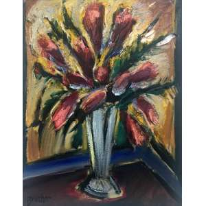 CARLOS BRACHER - Vaso de Flores - 92 x 72 cm - OST - Ass. CIE e Dat. 2016