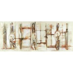 SÉRGIO FERREIRA - Figuras Egípcias – 70 x 170 cm – OST – Ass. CIE