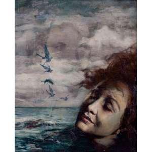 OSWALDO TEIXEIRA - Sonhos – 49 x 40,5 cm – OSE – Ass. CIE