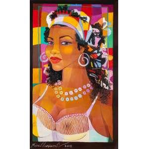 MÁRIO MARIANO - Mulata – 55 x 32,5 cm – OSC - Ass. CIE e Dat. 2015