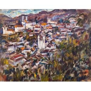 SÉRGIO TELLES - Ouro Preto/MG – 60 x 73 cm – OST – Ass. CID e Dat. 1973