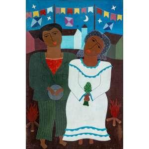 MARCOS GARCIA - Casamento na Roça – 60 x 40 cm - OSTSE – Ass. CID e Dat. 1987