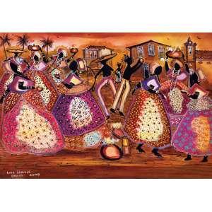 LUIZ FRANÇA - Festa das Baianas - 55 x 95 cm – OST - Ass. CIE e Dat. 2009