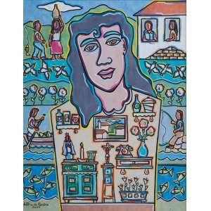 ANTÔNIO DO ROSÁRIO - O Imaginário de Teresa – 70 x 55 cm - OST – Ass. CIE e Dat. 2007