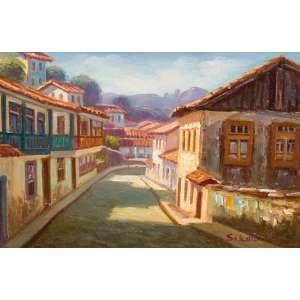 SEBASTIÃO EDUARDO - Vista de Ouro Preto – 16 x 24 cm – OST – Ass. CID e Dat. 2008