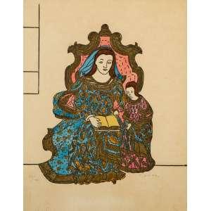 DJANIRA - Santana Mestra – 40 x 30 cm - Litografia Aquarelada – Ass. CID
