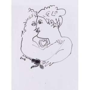 CHANINA - Casal – 29,5 x 21 cm – Desenho – Ass. CIE e Dat. 2008