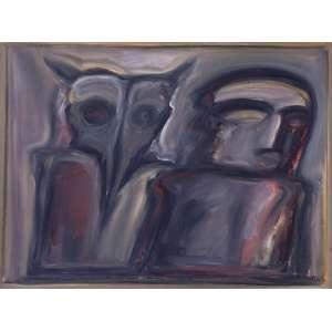 PÍNDARO CASTELO BRANCO - Figuras – 54 x 73 cm – OST – Ass. CIE e Dat. 1987