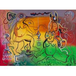IRMA RENAULT - Criaturas – 60 x 80 cm – OST – Ass. PI e Dat. 1982