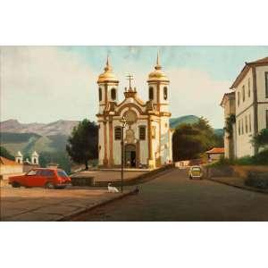 RUBENS VARGAS - Ouro Preto/MG - 40 x 60 cm - OST - Ass. PI e Dat. 2006