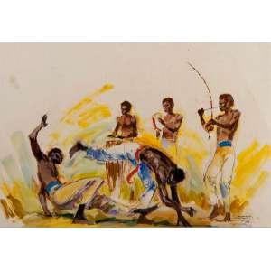 OSCAR PALÁCIOS - Capoeira – 23 x 35 cm – TM – Ass. CID