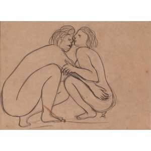 JOSÉ PEDROSA - Casal – 19 x 21 cm – Desenho Ass. CID e Dat. 1965