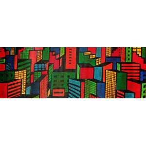 Claudio Tozzi - Cidade – 80 x 235 cm – AST – Ass. CID e Dat. 1998 Acompanha certificado de autenticidade emitido pelo artista