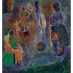 Rubens GERCHMAN - Série Banco da Praça - 52 x 50 cm – OSM – Ass. CID - Década de 1950 Acompanha Certificado de Autenticidade emitido pelo artista
