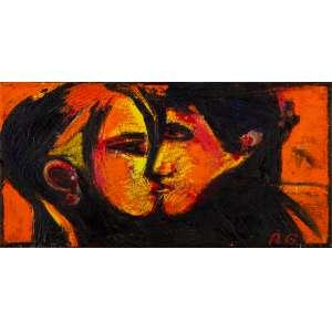 Rubens Gerchman - Hot Kiss – 30 x 60 cm – OST – Ass. CID