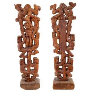 GTO - Figuras – 68 x 18 x 6 cm – Madeira - Assinada