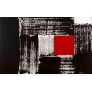 Amilcar de Castro - Composição com Vermelho – 100 x 160 cm – AST - Ass. Verso e Dat. 2000 - Apresenta Certificado de Autenticidade emitido pelo Instituto Amilcar de Castro