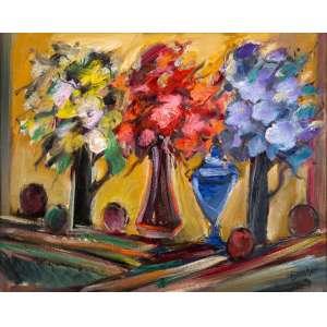 Carlos Bracher - Flores, Frutas e Compota de Vidro – 92 x 116 cm – OST – Ass. CID e Dat. 2019