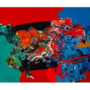 Manabu Mabe - Abstração – 50 x 60 cm – AST – Ass. CIE e Dat. 1988 – Acompanha Certificado de Autenticidade emitido pelo Instituto Mabe.