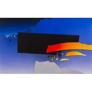 Fukuda - Abstração em Azul - 110 x 180 cm - AST - Ass. CIE