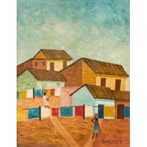 Lorenzato - Roupas no Varal e Lavadeiras - 45 x 36 cm – OSE – Ass. CID e Dat. 1978