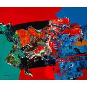 Manabu Mabe - Abstração – 50 x 60 cm – AST – Ass. CIE e Dat. 1988 - Acompanha Certificado de Autenticidade emitido pelo Instituto Mabe.