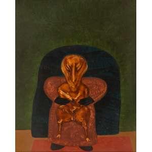 Siron Franco - O Chefe – 150 x 120 cm – OSA – Ass. Verso e Dat. 1976 - Reproduzida no catálogo da Exposição Individual realizada pelo artista no Palácio das Artes, - em Belo Horizonte/MG, em 2018.