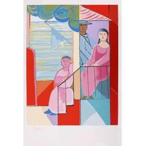 Cícero Dias - Moça na janela – 110 x 75 cm – Gravura – Ass. CIE - Sem Moldura