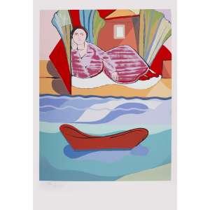 Cícero Dias - À espera – 110 x 75 cm – Gravura – Ass. CIE - Sem Moldura