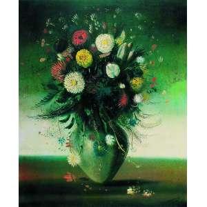Cândido Portinari - Flores – 72 x 54 cm – Serigrafia – Ass. CID - Sem Moldura